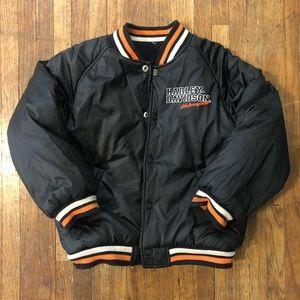 Kids Harley Davidson reversible bomber jacket